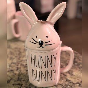Rae Dunn Pink Hunny Bunny Mug w/ Bunny Head